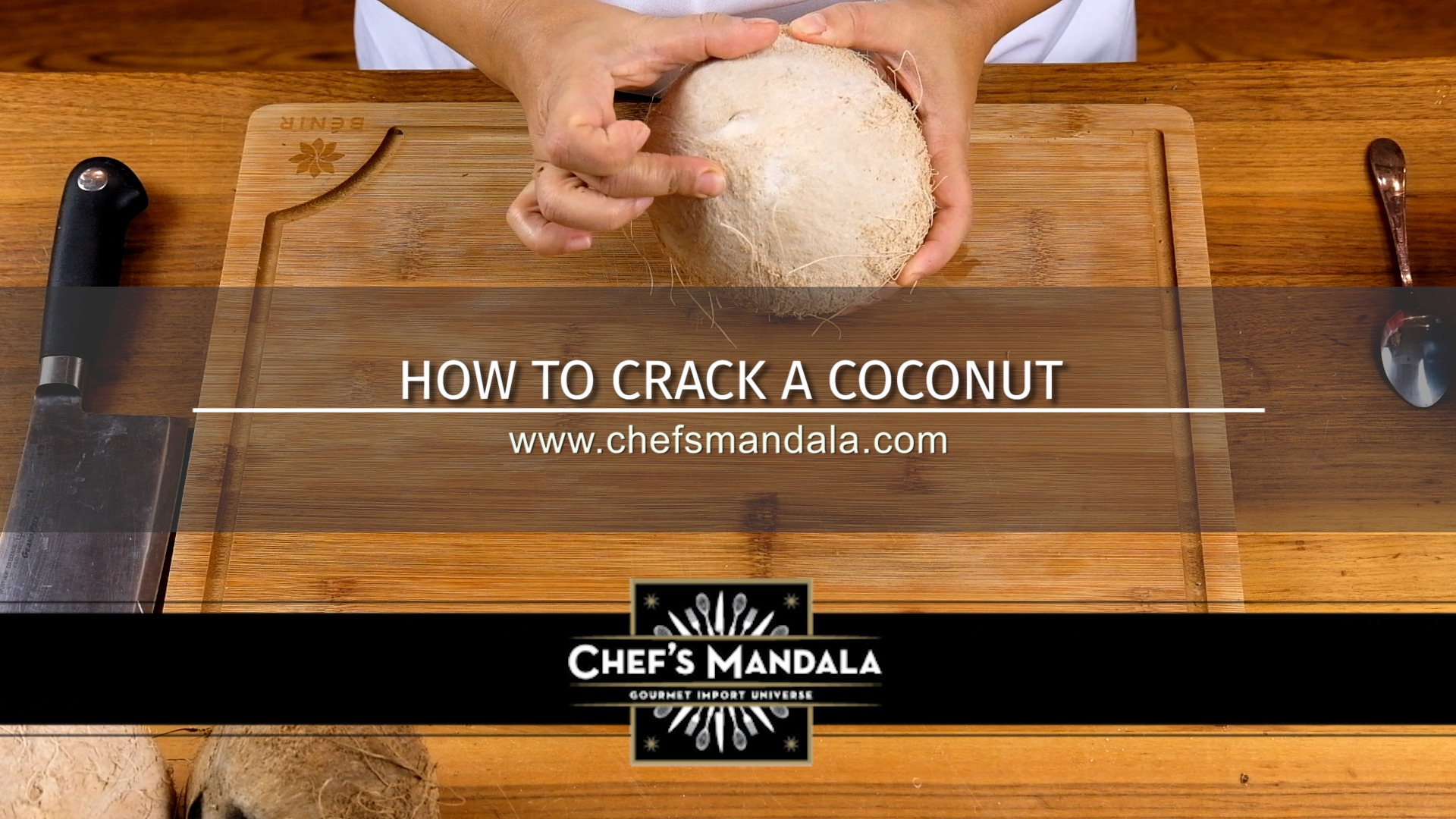 How to crack a cocunut