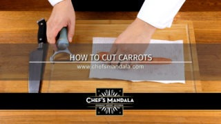 How to cut a carrots