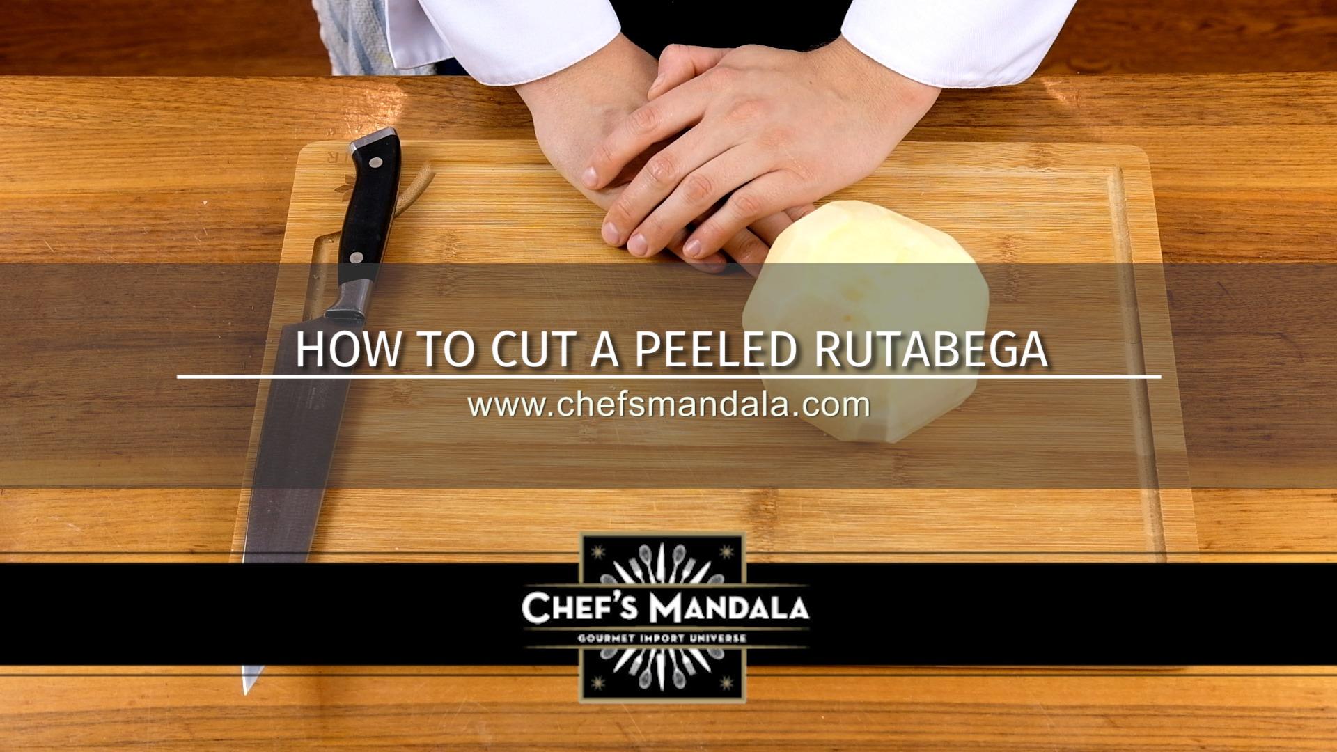 HOW TO CUT A PEELED RUTABAGA