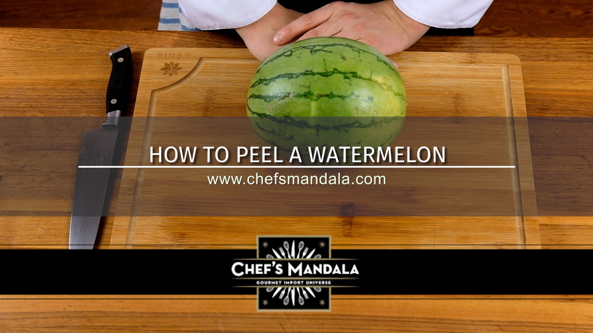 how to peel a watermelon
