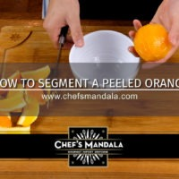 HOW TO SEGMENT A PEELED ORANGE