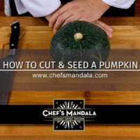 HOW TO PEEL & SEED A PUMPKIN