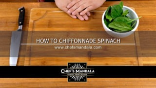 HOW TO CHIFONNADE SPINACH