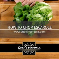 HOW TO CHOP ESCAROLE
