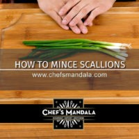 HOW TO MINCE SCALLIONS
