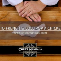 How to French and lollipop a chicken leg