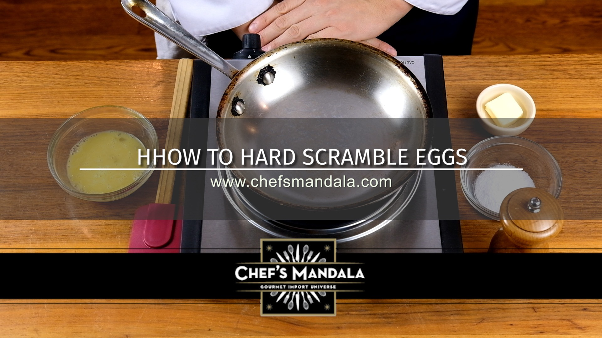 HOW TO HARD SCRAMBLE EGGS