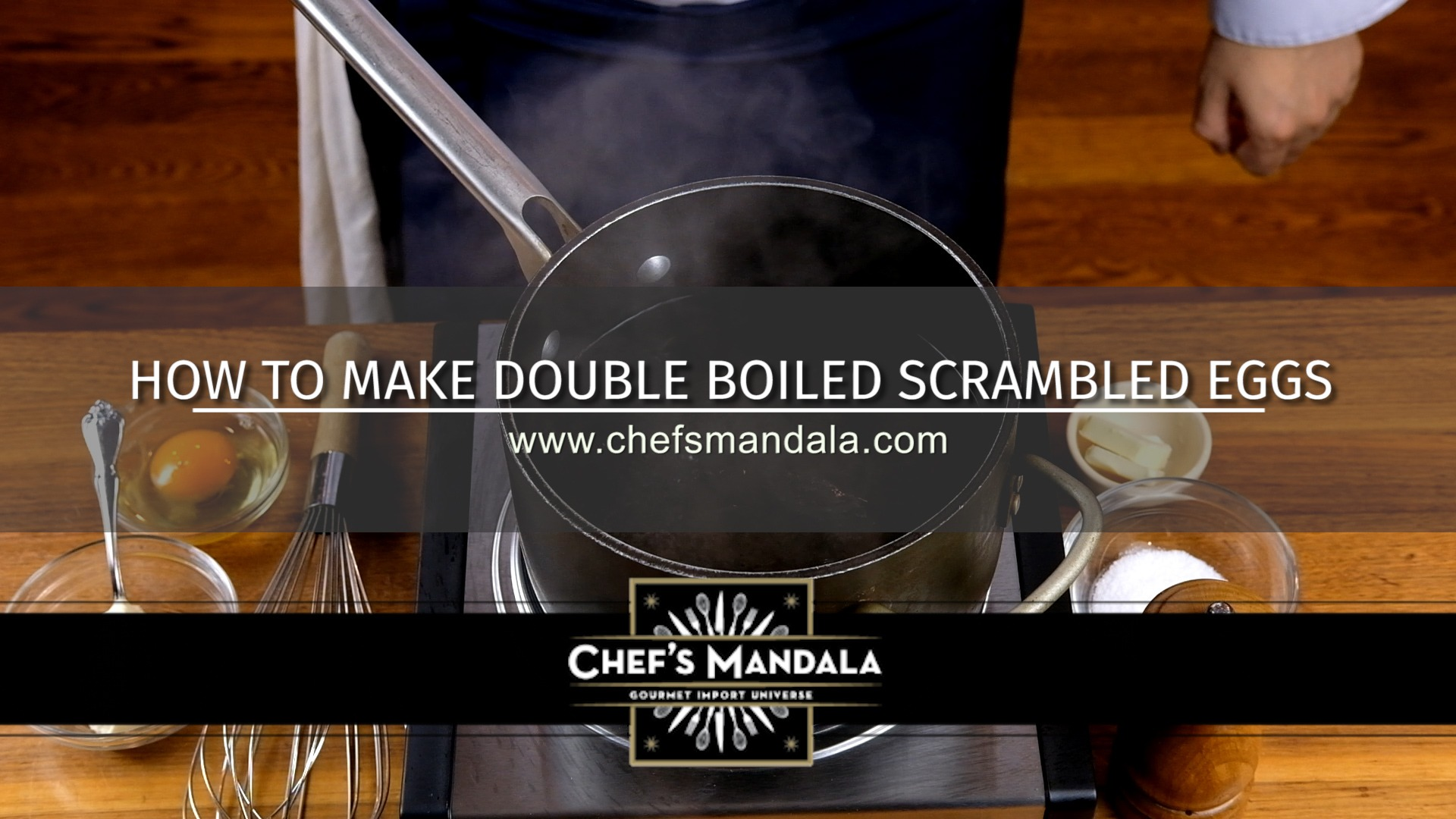 HOW TO MAKE DOUBLE BOILED SCRAMBLED EGGS