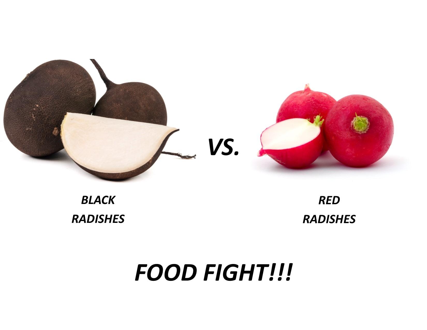 Black vs Red Radish