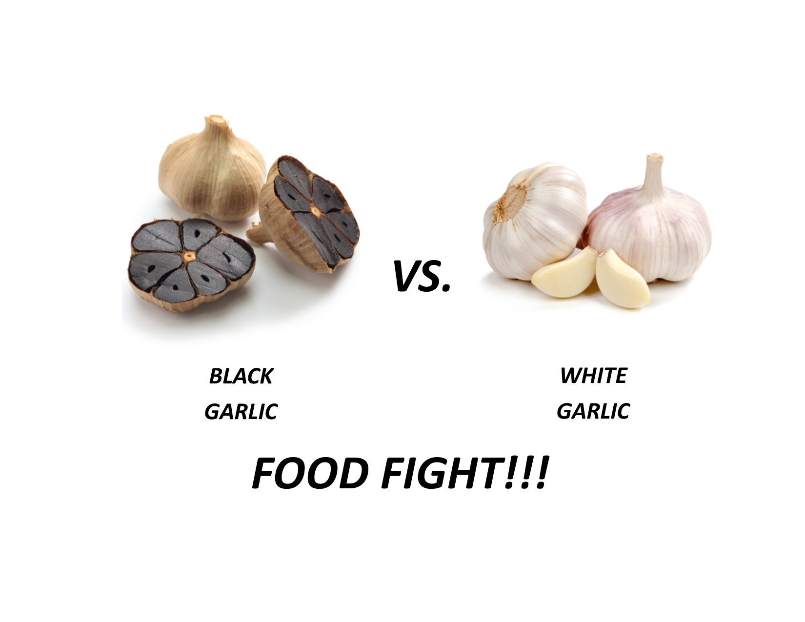 Black vs White Garlic
