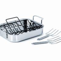 steel roasting pan