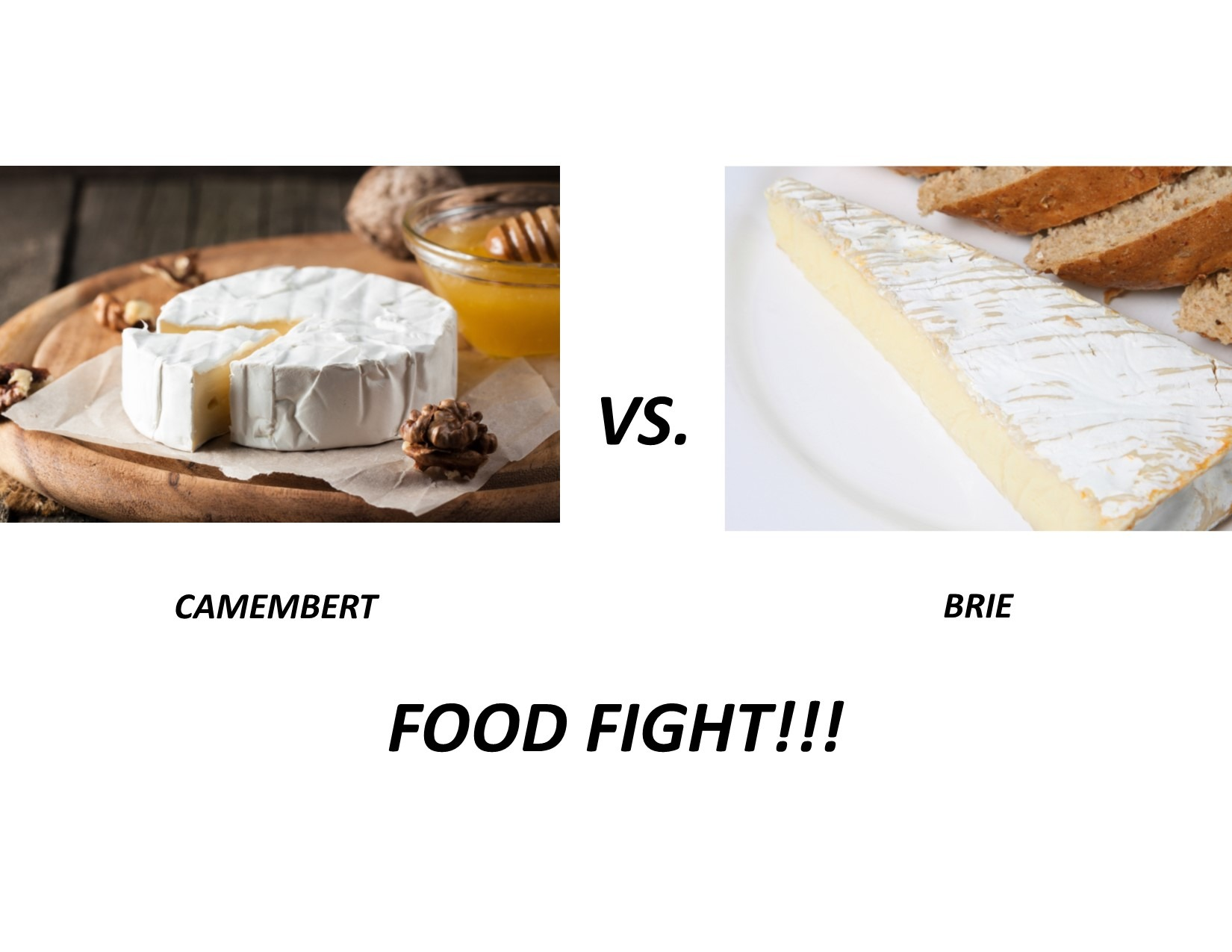 Camembert vs Brie