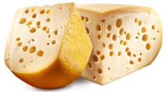 Emmental, swiss, cheese, holes