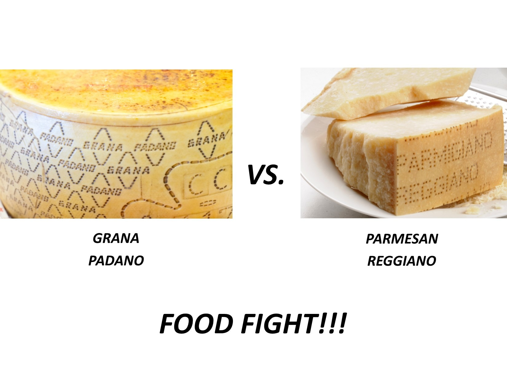Grana vs Parmesan Reggiano