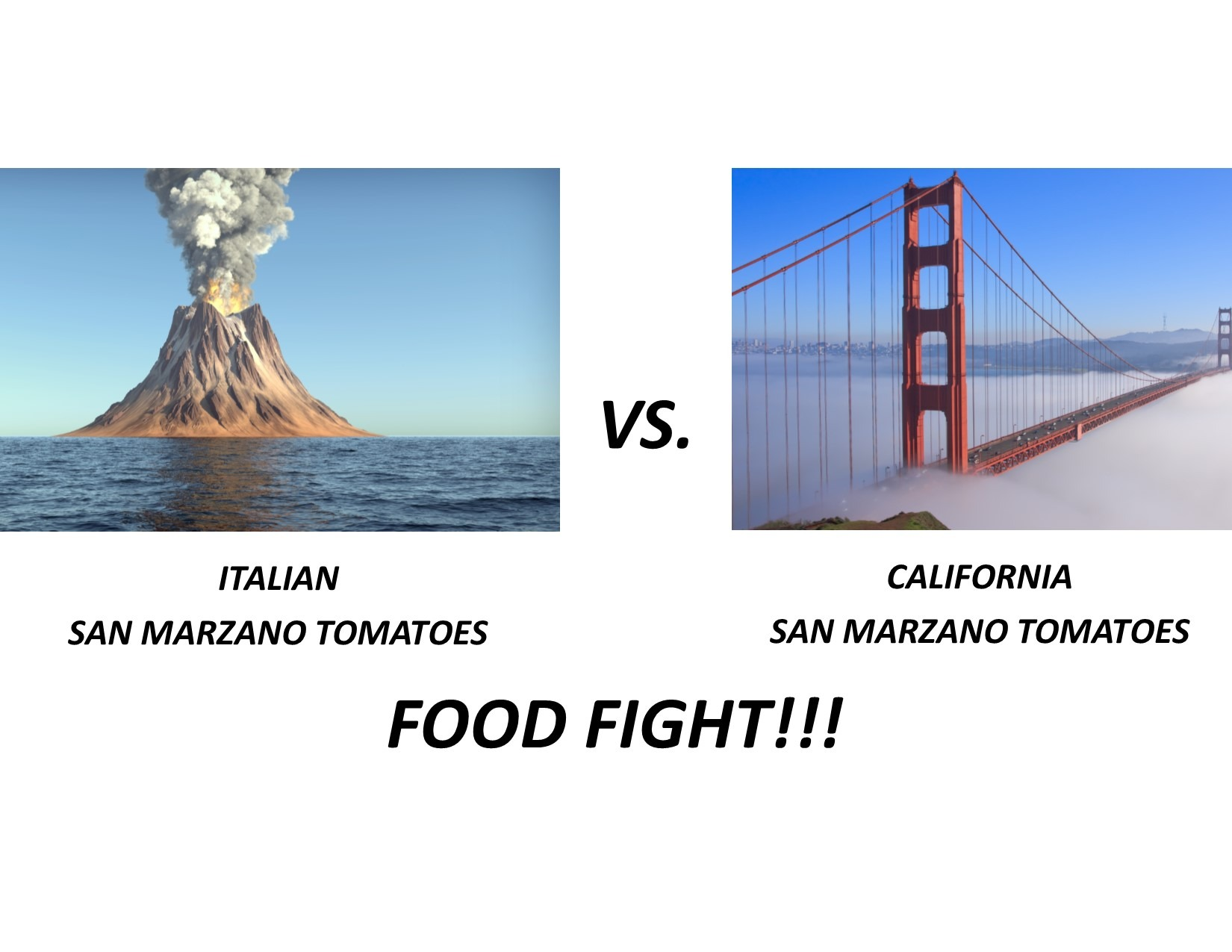 Italian vs California San Marzano