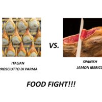 FOOD FIGHT!!  CURED HAM – Spain vs. Italy