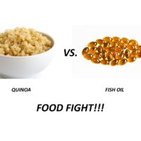 FOOD FIGHT!! ANTIOXIDANTS – Quinoa vs. Fish Oil