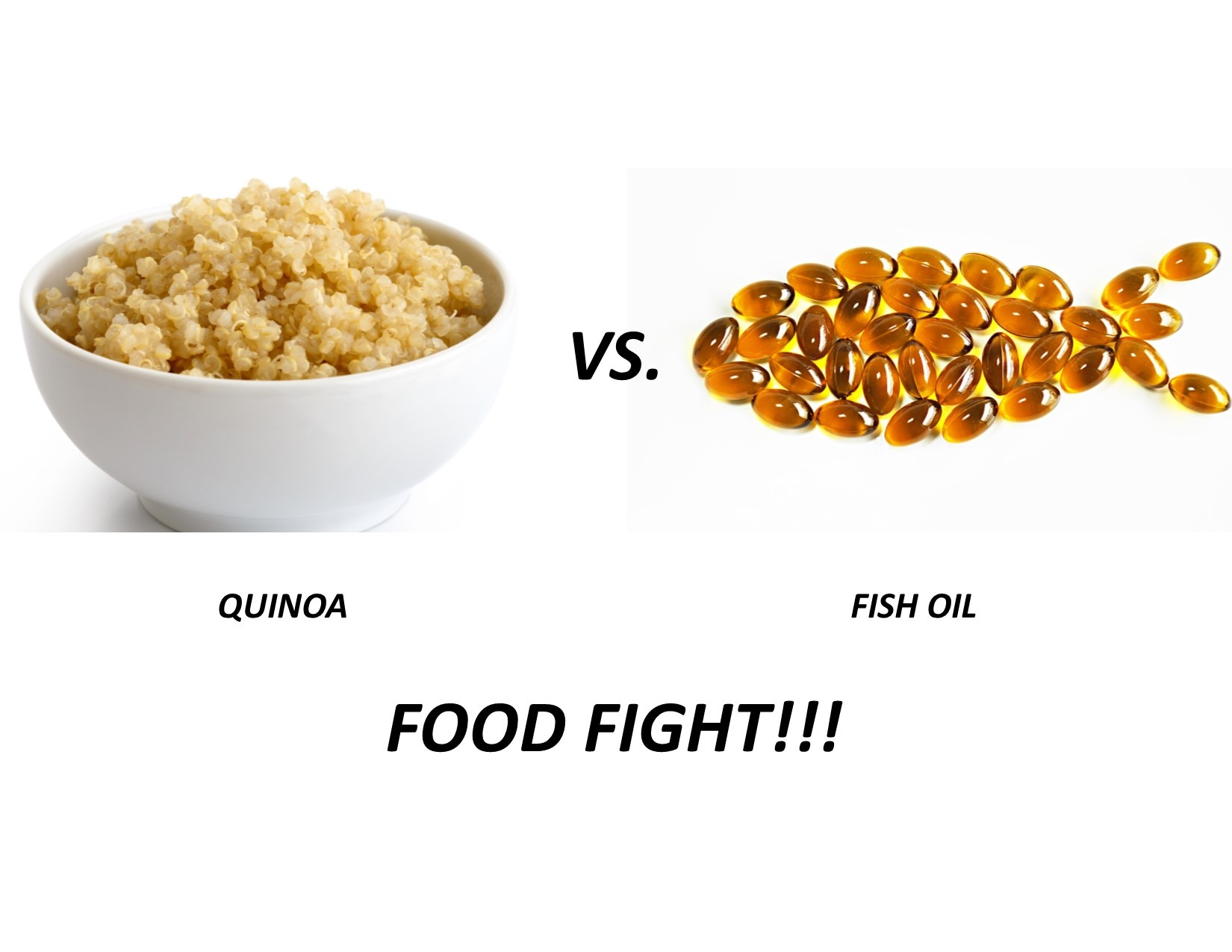 Quinoa vs Fish Oil