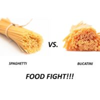 Spaghetti vs Bucatini