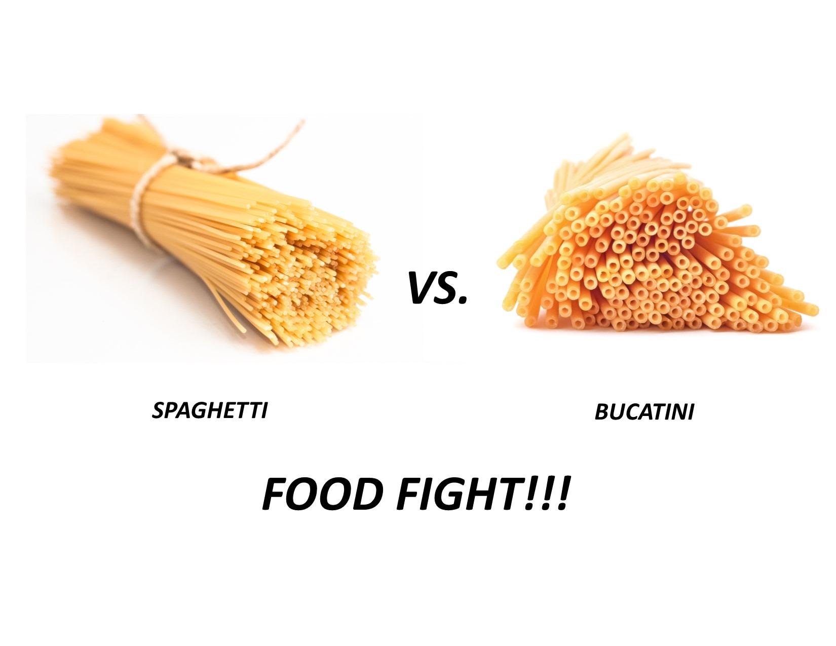 Spaghetti vs Bucatini