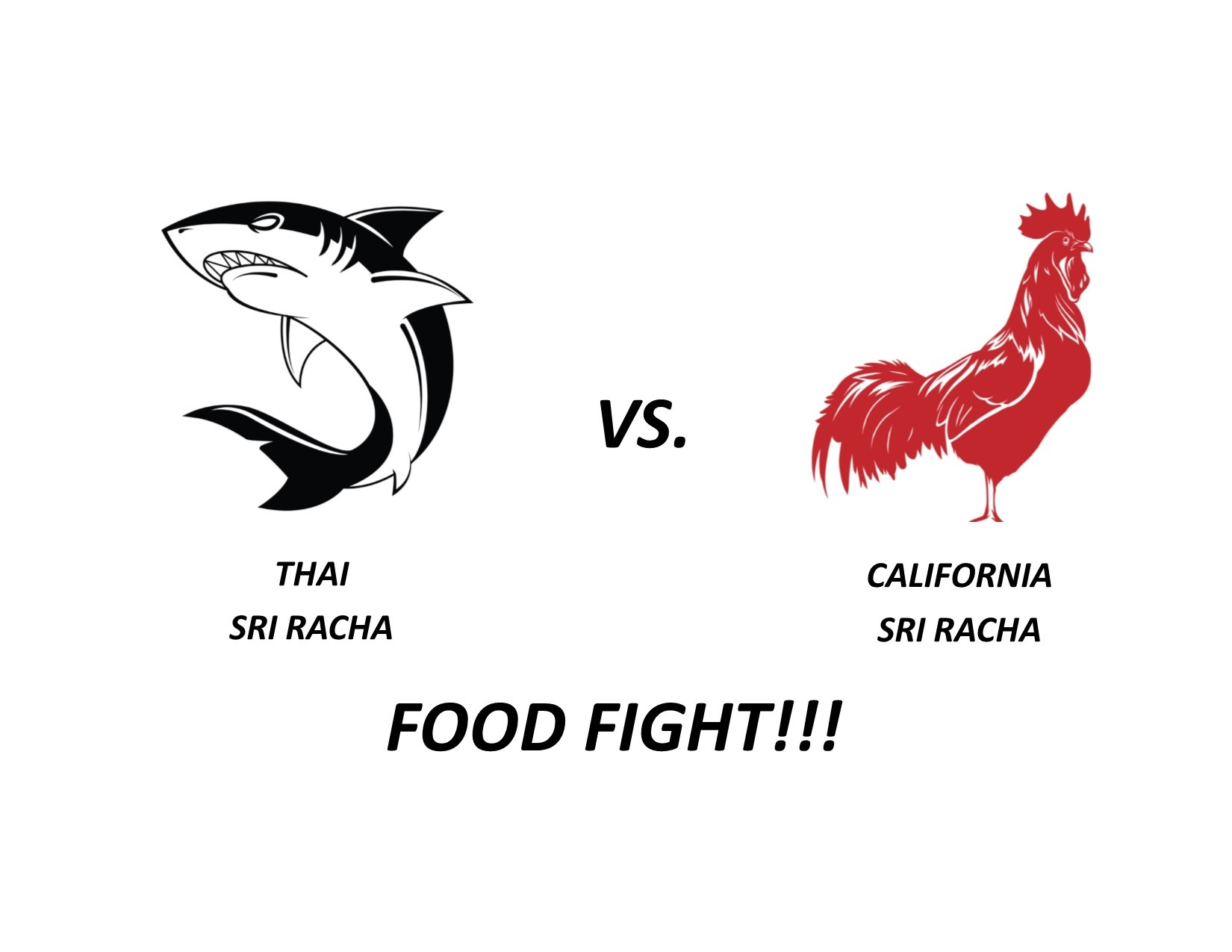 Thai vs California Sri Racha