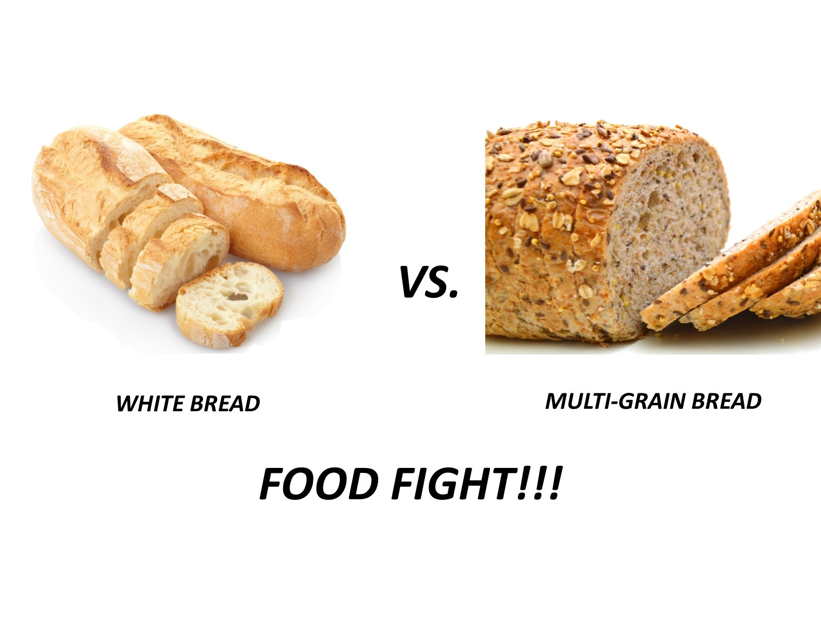 White vs Multi Grain Bread