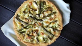 asparagus, ham, epoisse, tart