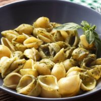 Conchiglie With Pesto Cream Sauce