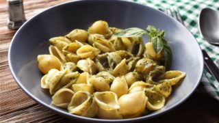 conchiglie with pesto