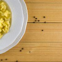 fagottini, pasta, chicken, black pepper