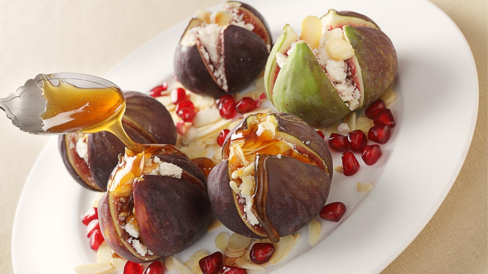 myzithra, mizithra, cheese, stuffed, figs, recipe