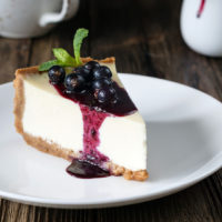 Neufchatel Cheesecake with Wild Blueberry Topping