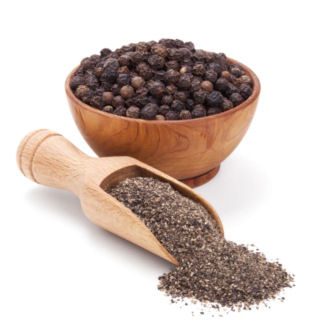 black, peppercorn, whole