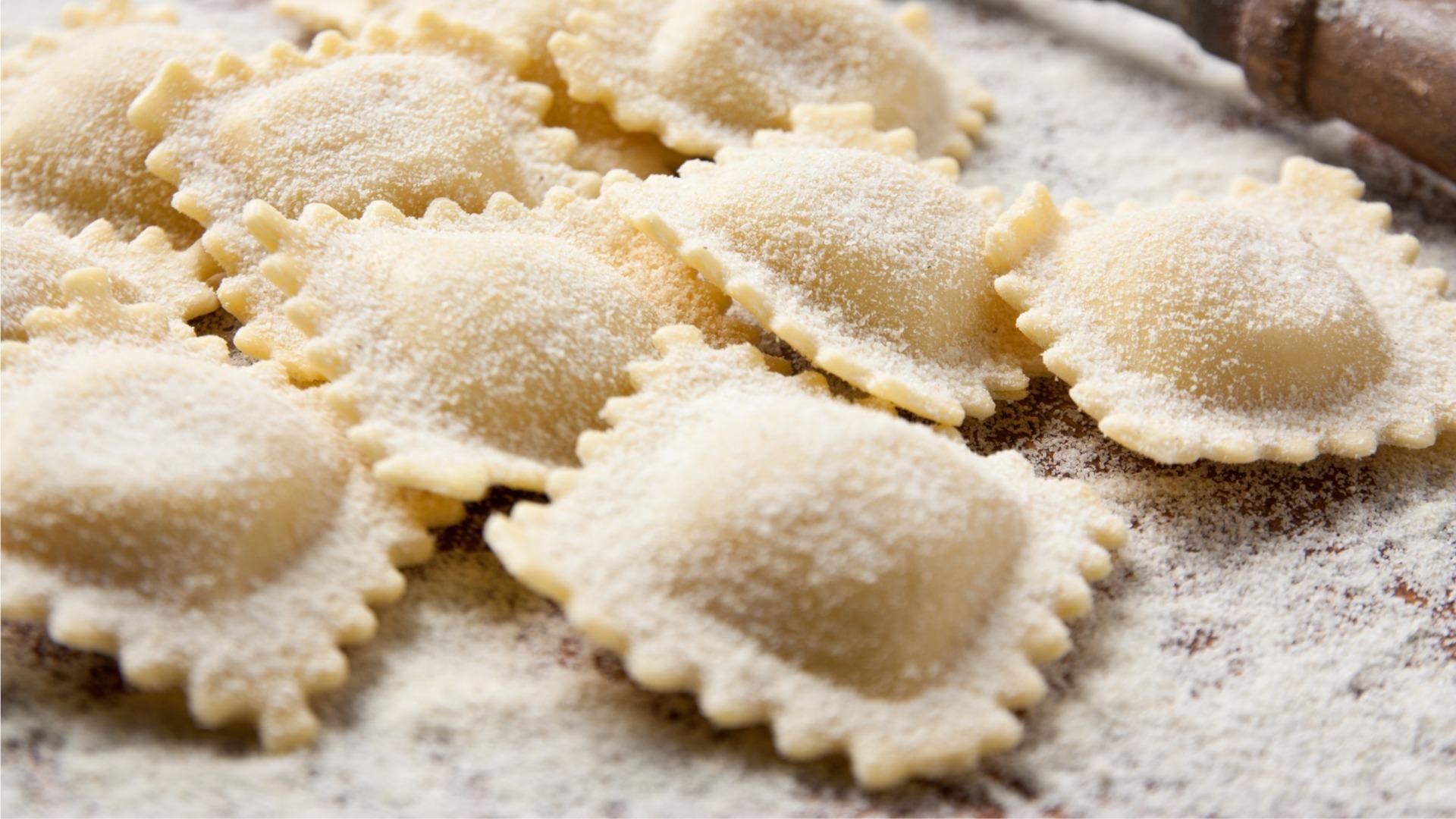ravioli, stuffed pasta, fresh, italian
