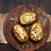 Twice Baked Potatoes with Pont L'Eveque