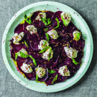 Beets with Labneh and Mint