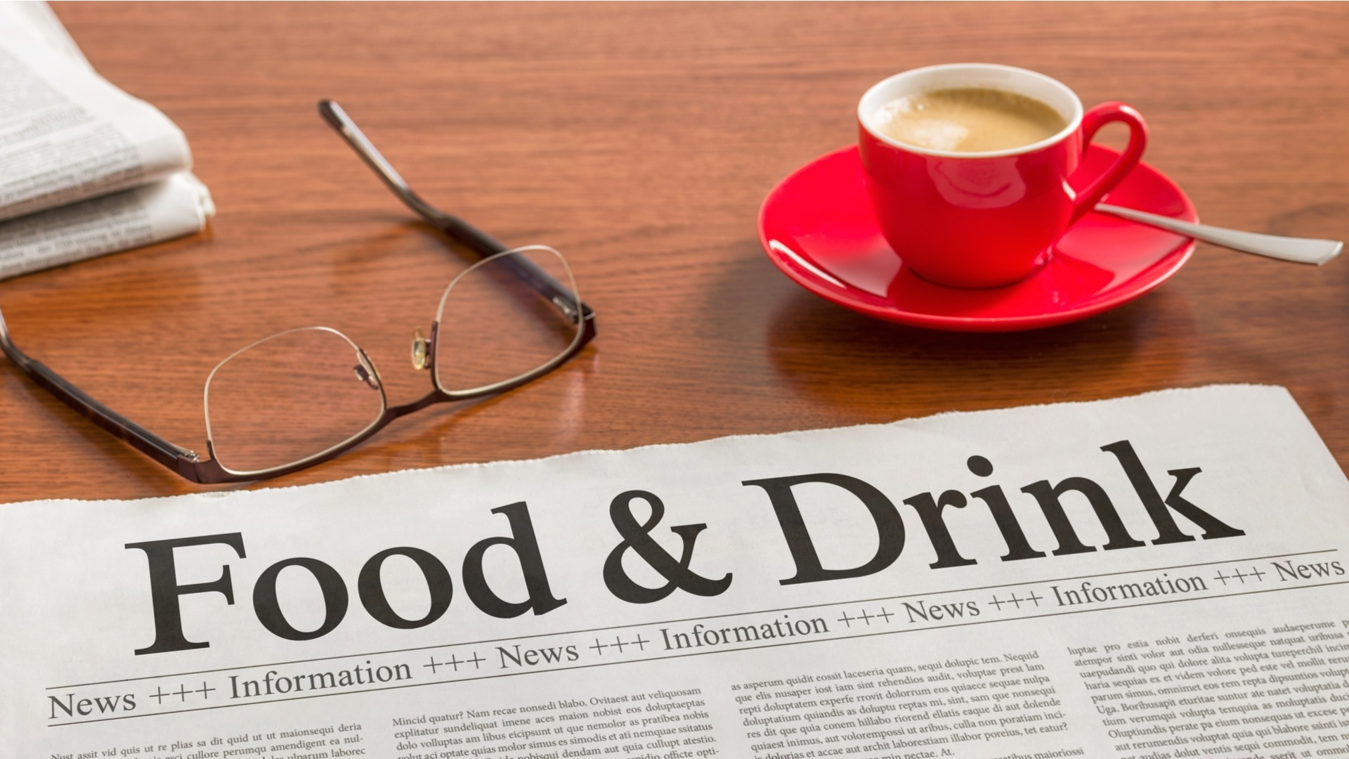 Food and drink newspaper