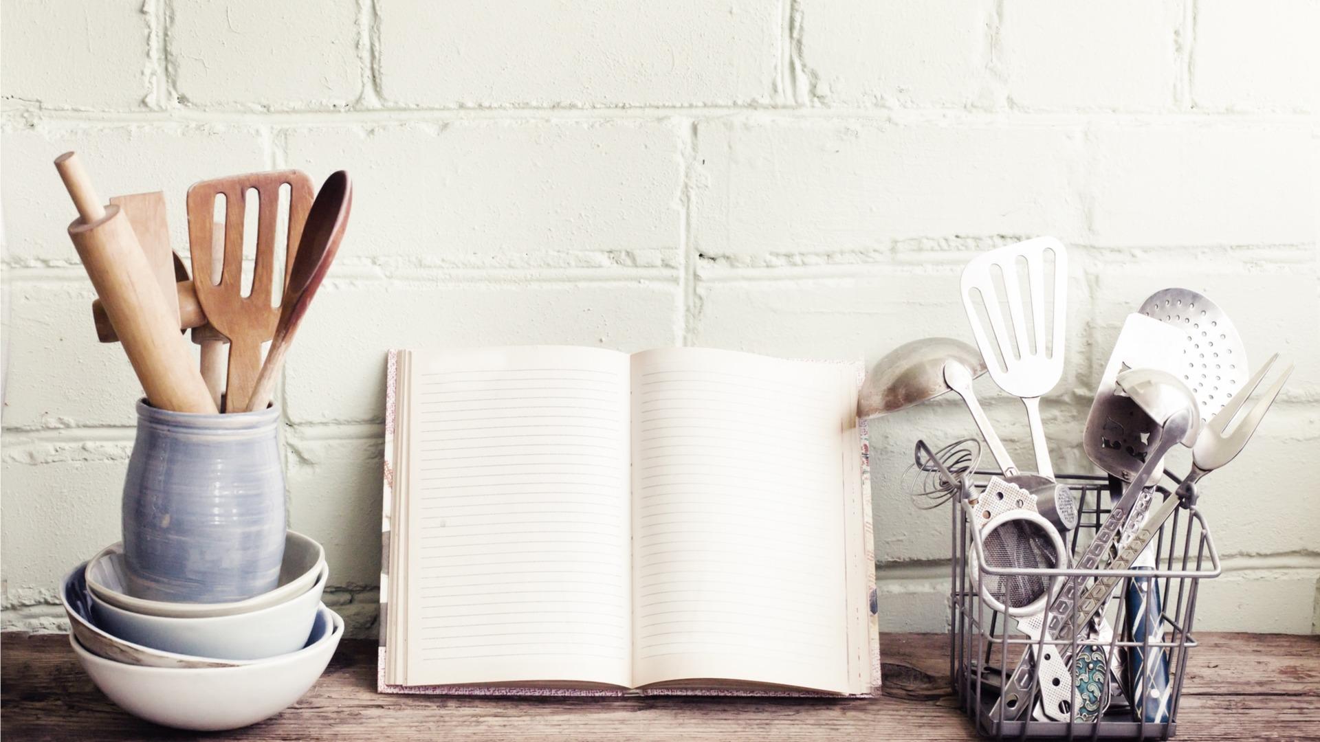 Cookbook and utensils