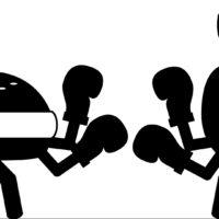 food fight, dinner