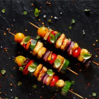 Halloumi Kebabs With Zaatar & Chilies