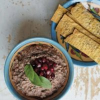 Smoky Eggplant Dip with Pomegranates and Walnuts (Kaleh Kabob)