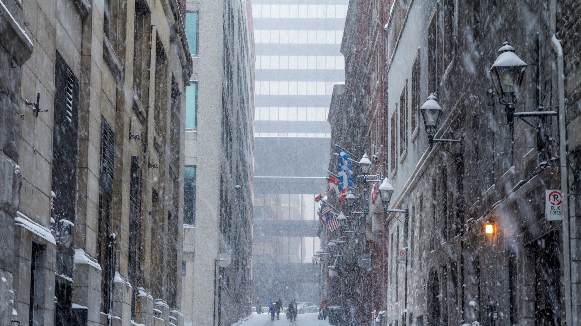 Old Montreal Winter