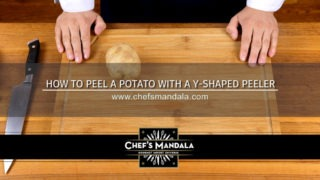 HOW TO PEEL A POTATO WITH A Y-SHAPED PEELER