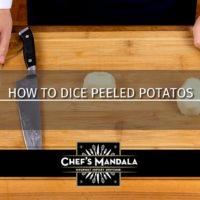 HOW TO DICE PEELED POTATOES