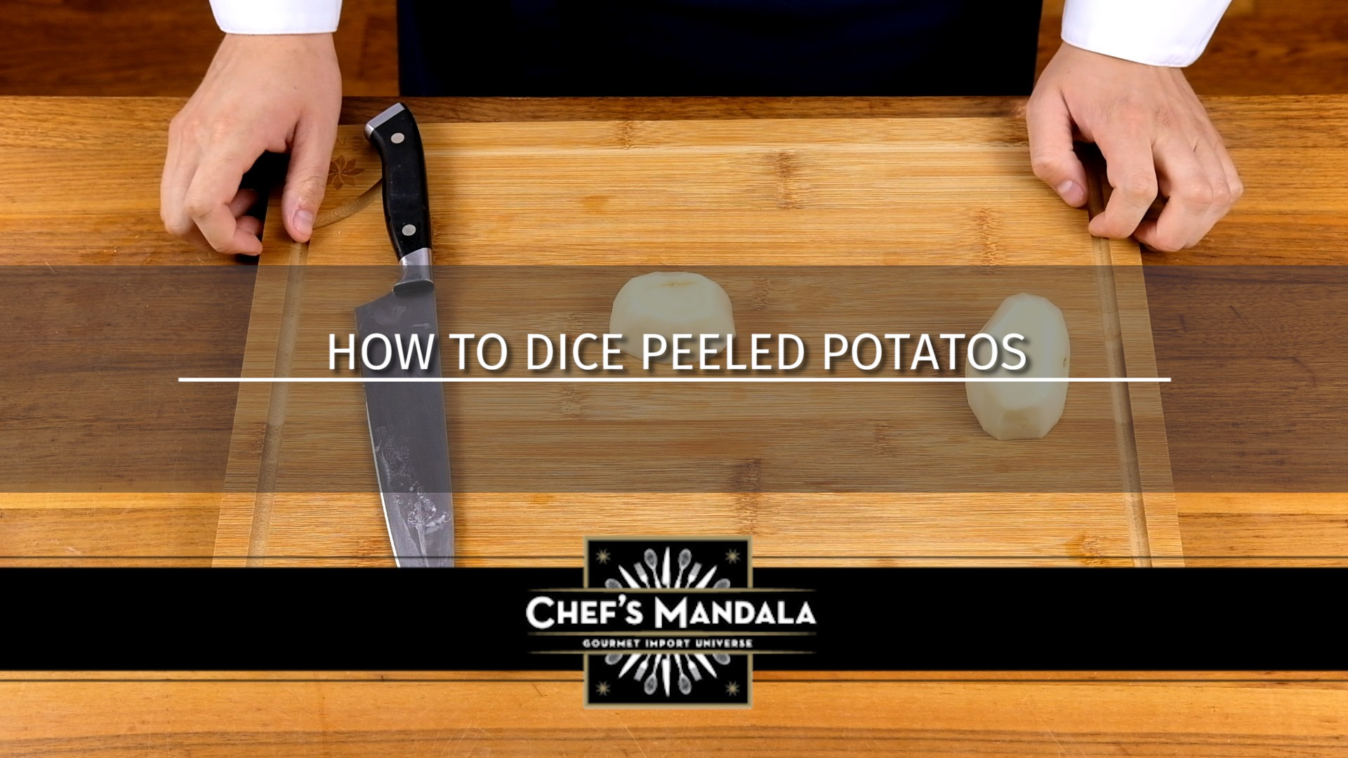 HOW TO DICE PEELED POTATOES