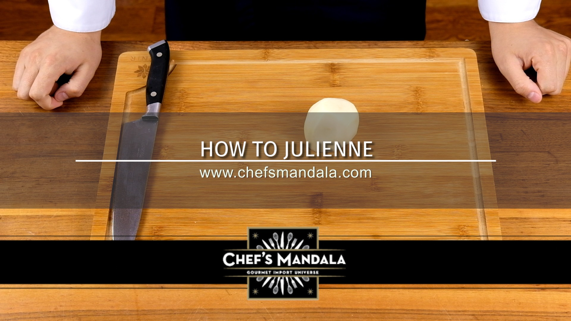 HOW TO JULIENNE A POTATO