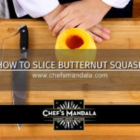 HOW TO SLICE BUTTERNUT SQUASH