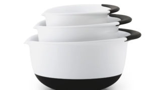 OXO GG 3-Piece Mixing Bowl Set - Black Handles - Nest