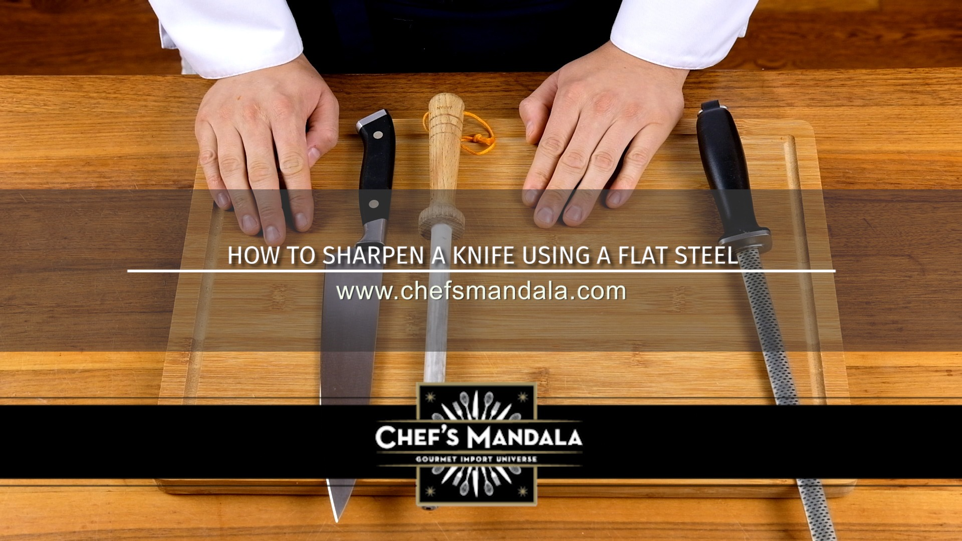 HOW TO SHARPEN A KNIFE USING A FLAT STEEL