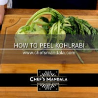 HOW TO PEEL KOHLRABI
